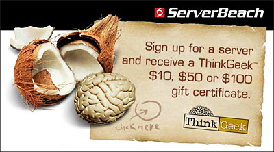 ServerBeach ThinkGeek Promo