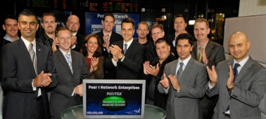 My PEER 1 colleagues and I opening the TSX on September 30th, 2008.