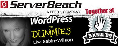 ServerBeach, Lisa Sabin-Wilson and WordPress For Dummies